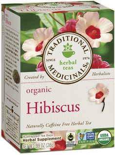 Traditional Medicinals Organic Hibiscus Tea | Tastes exactly like Tazo's Passion Tea but without the artificial flavoring and 'natural ingredients' - Tastes good over ice!