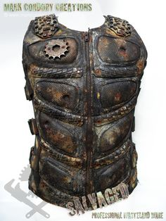 Post Apocalyptic costume - SALVAGED Ware vest. Commission enquiries always welcome @ www.markcordory.com