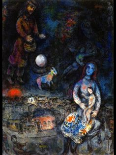 Marc Chagall (1887-1985) - Holy Family, oil on canvas, 1975-76   Private collection