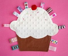 baby blankets | Baby Tag Blanket / Lovey Toy, Little Cupcake in Minkee - All Things ...