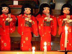 ざしきわらし祈年祭  zashikiwarashi child house sprites annual soul exchange ceremony   魂入れ替え式   http://www41.tok2.com/home/kanihei5/tono-zasikiwarasi.html#