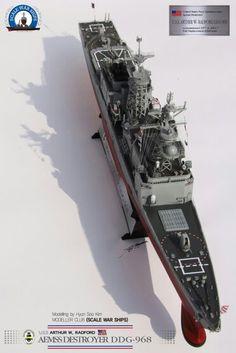 DDG-968, built by master modeler Kim hyun-soo, south korea