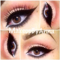 love that bold eyeliner <3 but with less white eyeliner