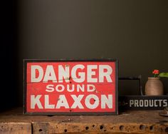 Vintage 1920's Wooden Klaxon Horn Sign by MDQualityGoods on Etsy https://www.etsy.com/listing/227555570/vintage-1920s-wooden-klaxon-horn-sign