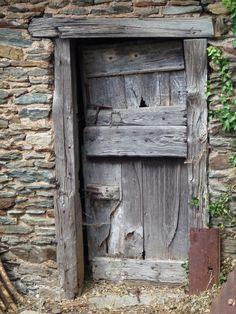 Weathered Door in Conques, Lot, France. Old Wooden Doors, Antique Doors, Old Doors, Windows And Doors, Entrance Ways, Entrance Doors, Doorway, Medieval Door, Beaux Villages