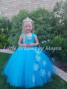 Elsa inspiriert Tutu Kleid und Diadem Größe von LittledreamsbyMayra