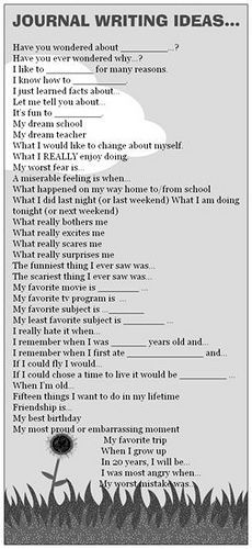 journal ideas the written word writing writing prompts