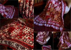 Rouge afghan by clothogancho. Would love to make one just like this <3