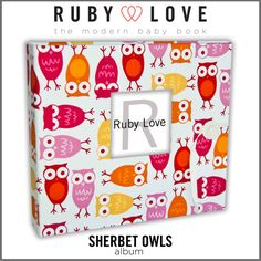 Baby Book . Baby Memory Book . SHERBET OWLS by rubylovedesigns, $60.00