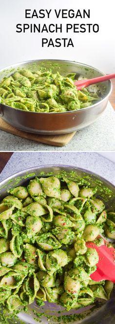 Easy Spinach Pesto Pasta
