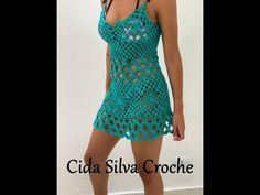 Saida de praia square Cida Silva Crochê - YouTube Moda Crochet, Crochet Tunic, Crochet Clothes, Knit Crochet, Beach Crochet, Crochet Bikini, Crochet Diagram, Hairpin Lace Crochet, Crochet Dresses
