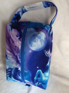 Small Boxy Project Bag  Unicorns in the Sky  B0221P