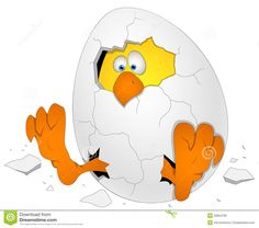 Easter Egg With Chicken - Cartoon Character - Vector Illustration Stock Photo - Image: 29954790