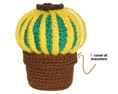 Excellent Free of Charge crochet amigurumi cactus Ideas Tutorial: cactus redondo con espinas tejido a crochet (amigurumi cactus) Crochet Beanie Pattern, Baby Afghan Crochet, Crochet Amigurumi Free Patterns, Knitting Patterns, Crochet Cactus, Freeform Crochet, Tunisian Crochet, Crochet Flowers, Homemade Frosting