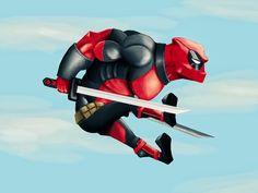 """""""Deadpool para @sketch_dailies ! Ya vi la pelicula y es muy buena! Vaya a su cine mas cercano, meta a la mala unas chimichangas y disfrute la función!…"""""""