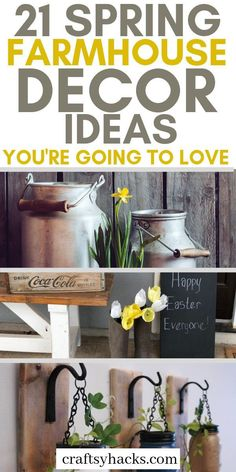 Try these diy farmhouse decor ideas and have rustic home decor. These spring decorating hacks will be super useful and creative enough to try.