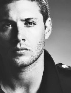 Jensen Ackles black and white