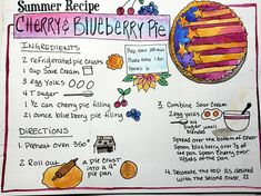 Sketchnote Summer Camp- time to sketchnote a recipe, I thought this pie looked yummy!  #sktechnoteboss, #sermonsketchnotes, #sketchnotes, #sketchnote,