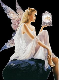 Angel with globe. Beautiful Fantasy Art, Beautiful Gif, Beautiful Fairies, Fairy Pictures, Angel Pictures, Chica Fantasy, Fantasy Girl, Gifs, Elfen Fantasy