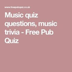 Music quiz with questions and answers for your quizzes. Awesome 30 questions on pop, rock, musicians and other music triva. Family Quiz Questions, Trivia Questions For Kids, Quiz Questions And Answers, This Or That Questions, Free Pub Quiz, Pop Music Quiz, Quiz Design, Awesome, Amazing Race