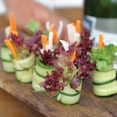 Cucumber rolls. A simple and easy appetizer recipe that is a good match to Nova Scotian sparkling wine.