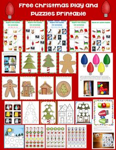 Free Christmas printable with play dough mats, easy Sudoku puzzles, and activities --- opens on the blog, not in a store.