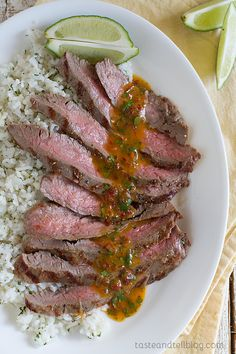 Chipotle Herb Flank Steak from Taste and Tell