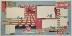 CTMH Seaside - Beach Themed Scrapbooking Layout - Good Day Sunshine