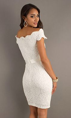 cheap Short Lace Dress with Tied Waist_Popular Dresses_cheap 2012 Popular Dresses, Formal Dresses, Prom Dresses, Evening Wear at 4Evening Dresses sale