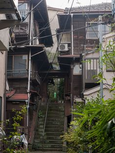 weeaboobs:  kasa51:  階段の長屋 on Flickr. 本郷 東京 樋口一葉  ×