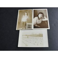 Vintage Original 1900's early Real Photo Postcards RPPC- Set of (3)- Unposted.