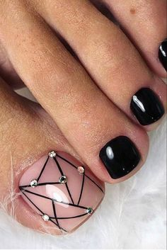 27 Adorable Easy Toe Nail Designs 2020 – Simple Toenail Art Designs : Page 22 of 25 : Creative Vision Design – nageldesign. Simple Toe Nails, Pretty Toe Nails, Cute Toe Nails, Summer Toe Nails, Spring Nails, Summer Pedicures, Black Toe Nails, Stiletto Nails, Coffin Nails