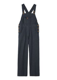STRIPE DENIM DUNGAREES by TOAST