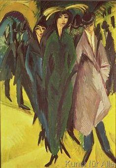Ernst Ludwig Kirchner - Women on the Street, 1915