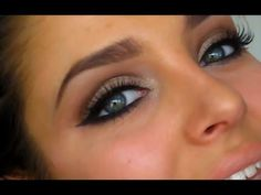 SEXY & SMOKEY CLUBBING MAKEUP TUTORIAL - Chloe Morello. Love this! Base: NYX jumbo pencil Milk, Urban Decay Naked palette (sidecar on lids, buck in crease, naked in crease and upward). Buck on lower lids plus a black shadow. Mac Blacktrack winged out on upper lash line, tight line, water line and on lower lash line.