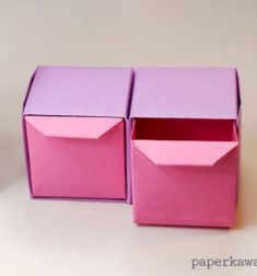 ❤ Origami pull out drawers (paper folding) ❤Mindy - craft idea & DIY tutorial collection