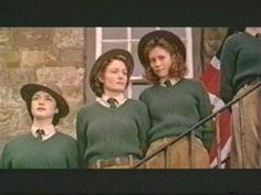 The Land Girls..love the green jumpers, shirts  corduroy dungarees