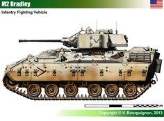 #military #veterans M2 Bradley Infantry Fighting Vehicle (USA) - @ www.HireAVeteran.com