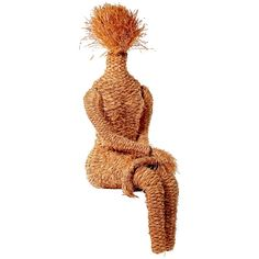 Fabulous Woven Hemp Sculpture of a Woman. This may be purchased on ecofirstart.com