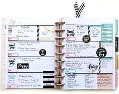 full filled out week in the new Rose Gold Horizontal Happy Planner™ by mambi Design Team member Theresa Doan | me & my BIG ideas