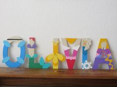 Disney Princess Letter Art by TheLetterBug on Etsy, $10.00