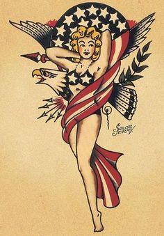 Trendy tattoo traditional sailor jerry pin up ideas Tattoo Girls, Girl Tattoos, Bodysuit Tattoos, Tatoos, Sailor Jerry Flash, Dragon Tattoo Back Piece, Sailor Jerry Tattoos, Japanese Dragon Tattoos, Pin Up Models