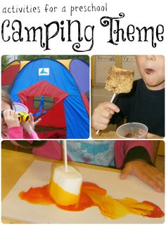 Activities for a Preschool Camping Theme -- these are great activities for teachers, as well as parents!
