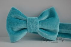Velvet bow tie, turquoes colour, comes in all sizes,Men's bow tie, children accessories, baby bow tie, handmade accessory ,wedding