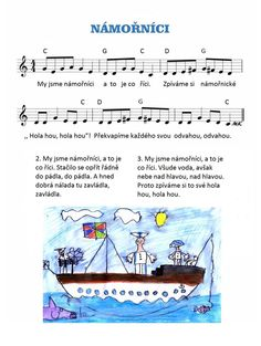 Hanka Kašpárková Káčerová's media content and analytics Pirate Activities, Activities For Kids, Crafts For Kids, Music Do, Kids Songs, Sheet Music, Transportation, Kindergarten, Poems
