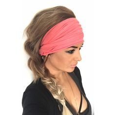 Coral Scrunch Headband Extra Wide Headband Turban Headband Extra Wide... ($25) ❤ liked on Polyvore featuring accessories, hair accessories, grey, headbands & turbans, wide stretch headbands, wide headbands, headband turban, hair band headband and stretch headbands