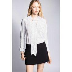 Answear - Bluzka z wąskim szalikiem Shake it Off Bell Sleeves, Bell Sleeve Top, Shake It Off, Mini Skirts, Long Sleeve, Tops, Women, Fashion, Tunic