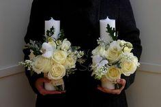 Flowers of Soul: Lumanari de cununie Wedding Decorations, Wedding Ideas, Floral Wreath, Candles, Wreaths, Weddings, Xmas, Flowers, Make Up