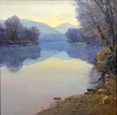 Early Spring, Shenandoah by Edward Cooper on the FASO Daily Art Show. | See more of Ed's work at: http://www.southstreetartgallery.com/index.html  and http://edcooperstudio.com