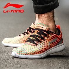 Li Ning Men's Running Shoes Authentic 2016 New Damping Wear-resisting Minimalist Lightweight Sneakers ARJK009